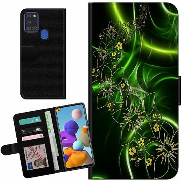 Samsung Galaxy A21s Billigt Fodral Blommor