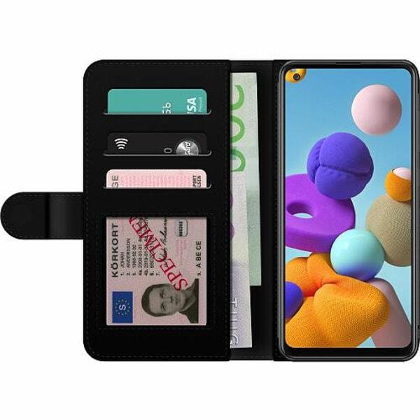 Samsung Galaxy A21s Billigt Fodral Wolf / Varg