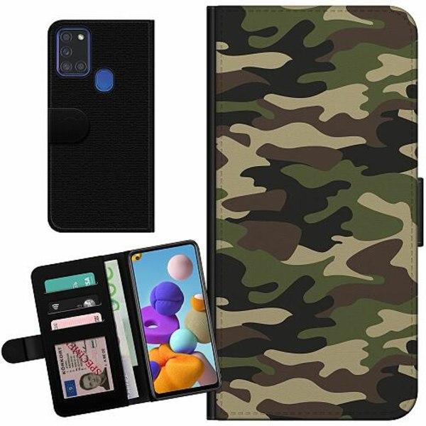 Samsung Galaxy A21s Billigt Fodral Militär