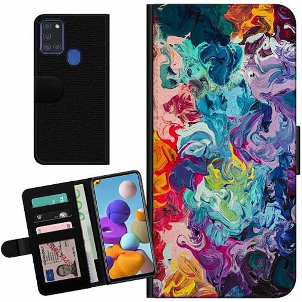 Samsung Galaxy A21s Billigt Fodral Wild Colours