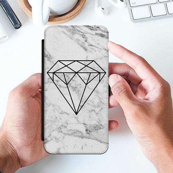 Huawei P40 Lite Slimmat Fodral Marmor Diamant
