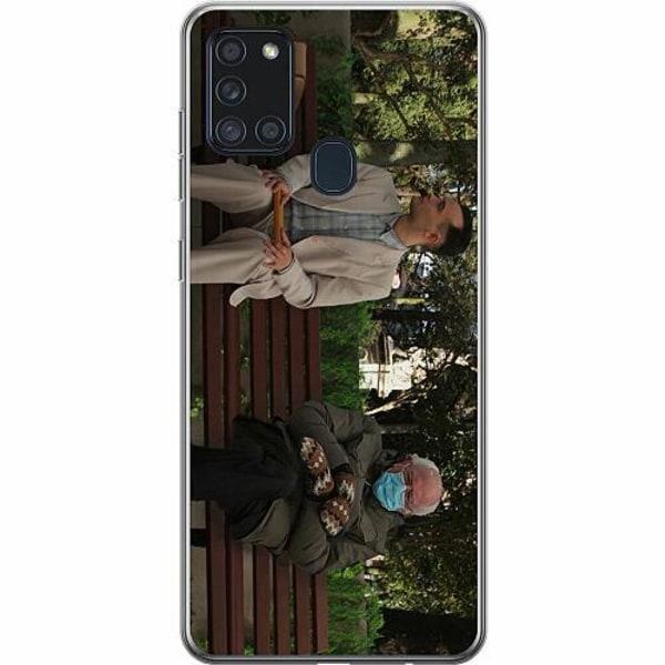 Samsung Galaxy A21s Thin Case Bernie Sanders Meme