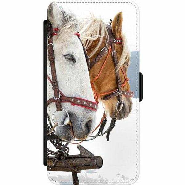 Samsung Galaxy A21s Wallet Slim Case Häst / Horse
