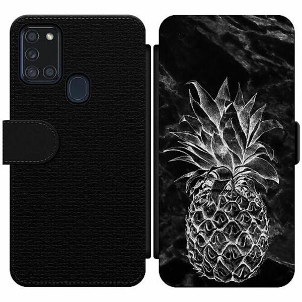 Samsung Galaxy A21s Wallet Slim Case Marmor Ananas