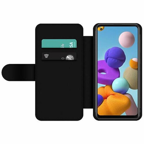 Samsung Galaxy A21s Wallet Slim Case Text