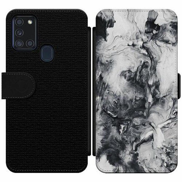 Samsung Galaxy A21s Wallet Slim Case Mönster