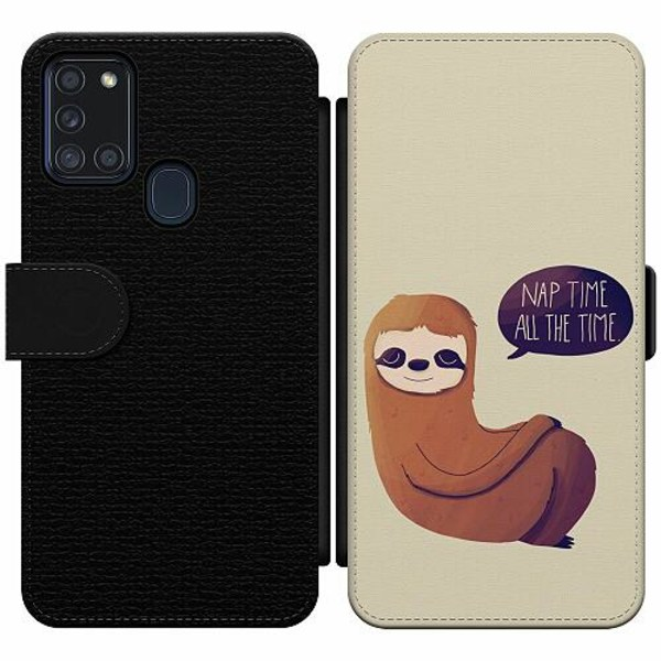 Samsung Galaxy A21s Wallet Slim Case Nap Time All The Time