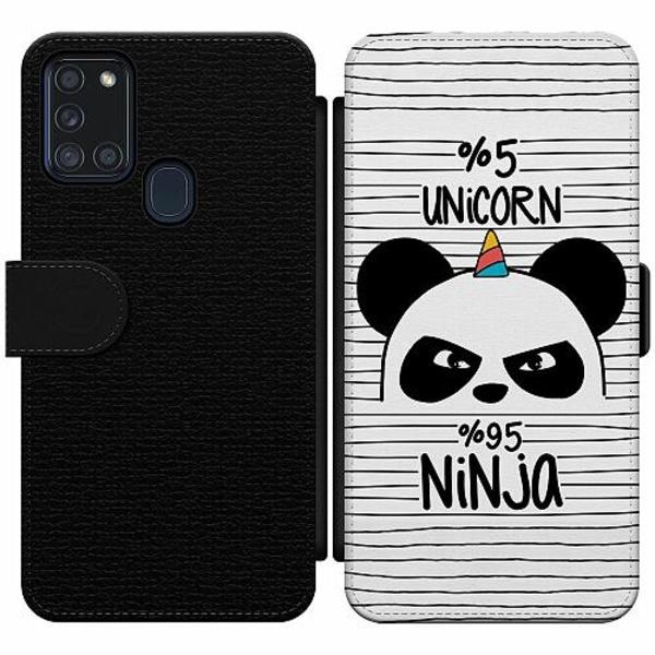 Samsung Galaxy A21s Wallet Slim Case Ninja Panda With A Twist