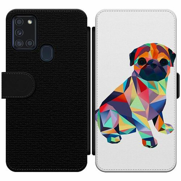 Samsung Galaxy A21s Wallet Slim Case Pug