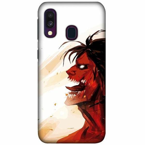 Samsung Galaxy A40 LUX Mobilskal (Matt) Attack On Titan