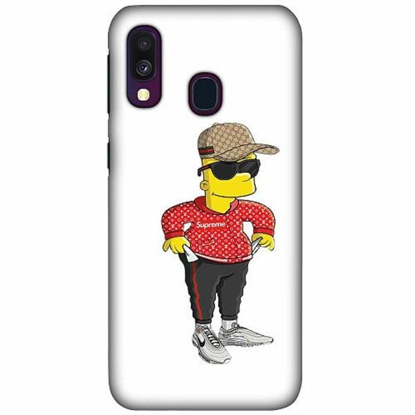 Samsung Galaxy A40 LUX Mobilskal (Matt) Bart Simpsons SUP