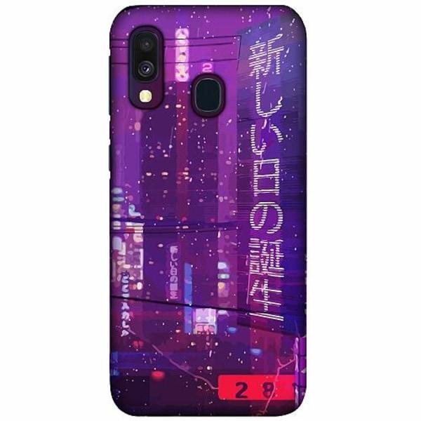 Samsung Galaxy A40 LUX Mobilskal (Matt) Cyberpunk 2077