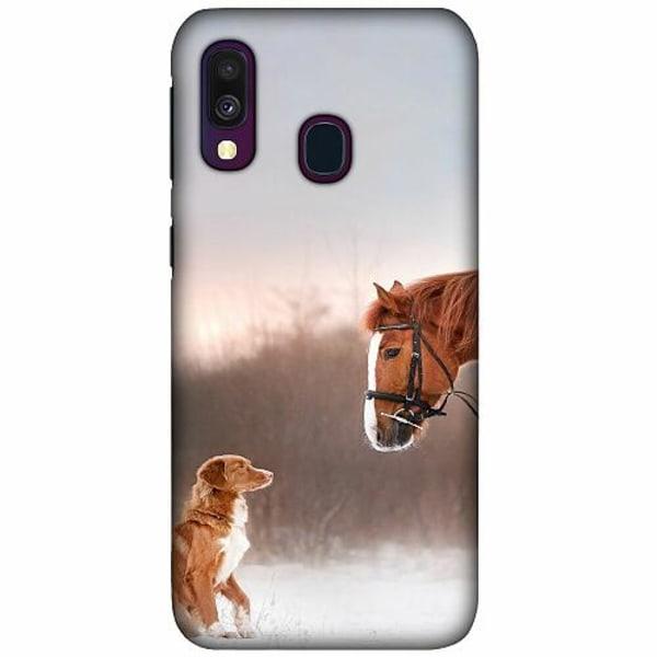 Samsung Galaxy A40 LUX Mobilskal (Matt) Dog Meets Horse