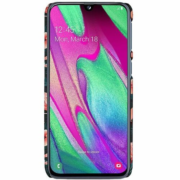 Samsung Galaxy A40 LUX Mobilskal (Matt) Flamingo Fever
