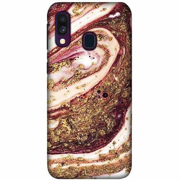 Samsung Galaxy A40 LUX Mobilskal (Matt) Golden Honey