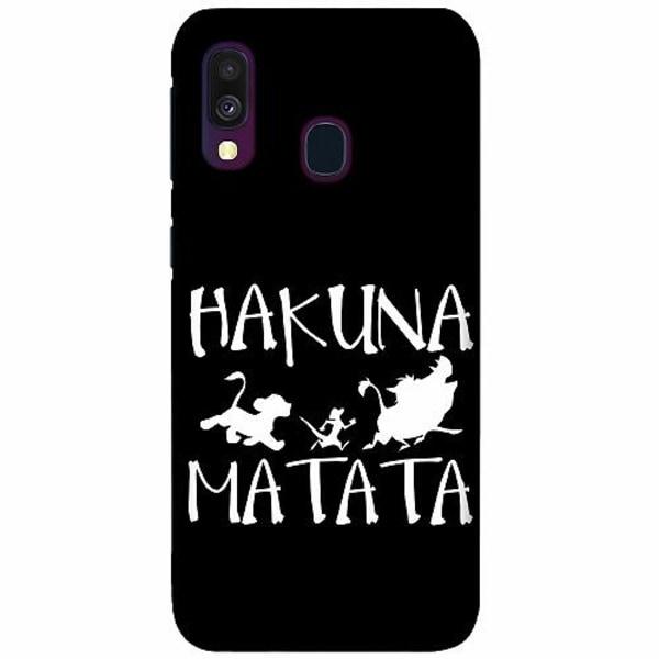 Samsung Galaxy A40 LUX Mobilskal (Matt) Hakuna Matata