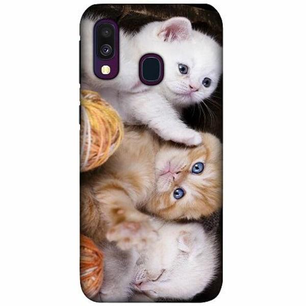 Samsung Galaxy A40 LUX Mobilskal (Matt) Katter