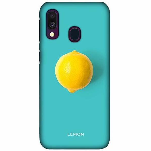 Samsung Galaxy A40 LUX Mobilskal (Matt) Lemon