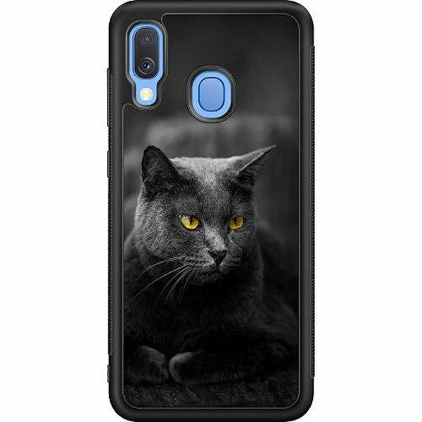 Samsung Galaxy A40 Soft Case (Svart) Black Cat