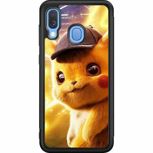 Samsung Galaxy A40 Soft Case (Svart) Detective Pikachu - Pikachu