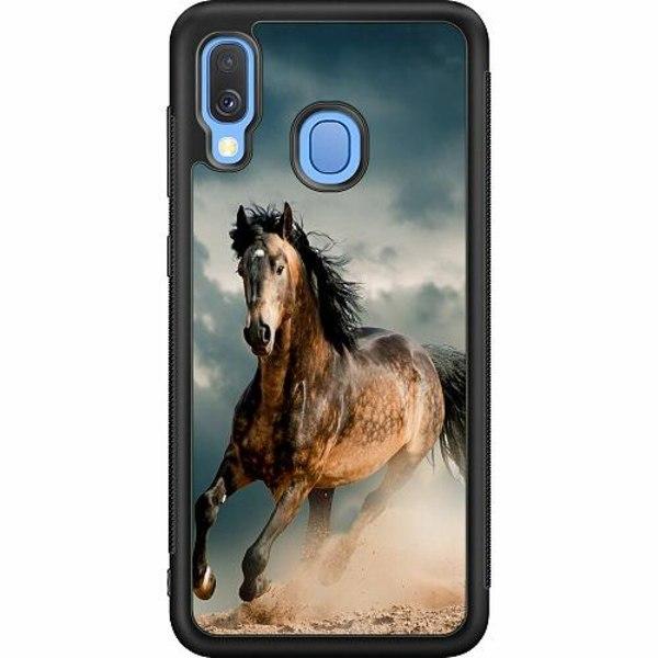 Samsung Galaxy A40 Soft Case (Svart) Häst
