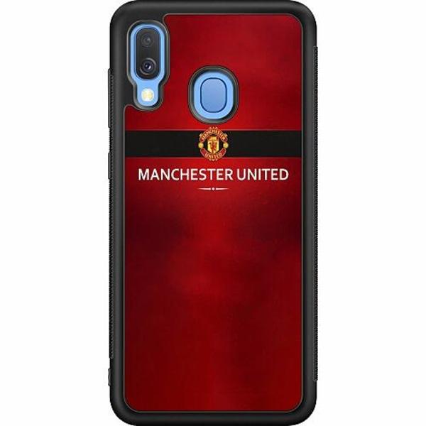 Samsung Galaxy A40 Soft Case (Svart) Manchester United