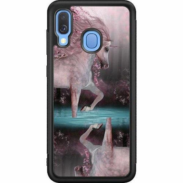Samsung Galaxy A40 Soft Case (Svart) Unicorn