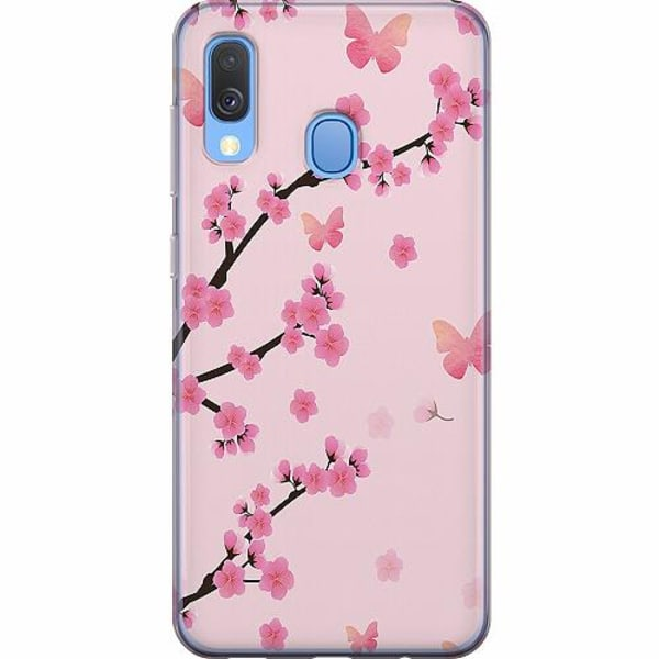 Samsung Galaxy A40 Mjukt skal - Blommor
