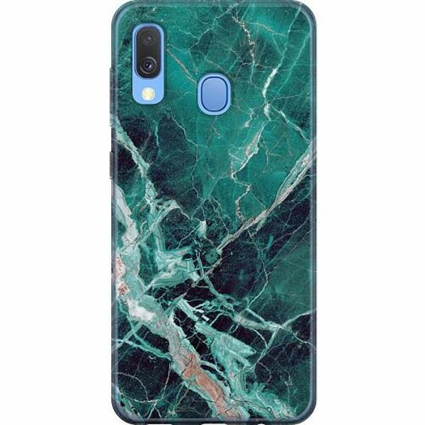 Samsung Galaxy A40 Mjukt skal - Marmor