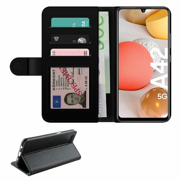 Samsung Galaxy A42 5G Fodralväska Bokstäver