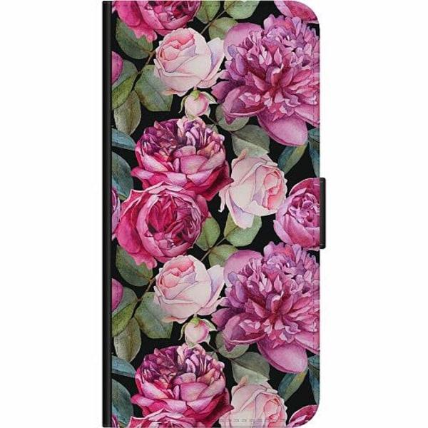 Samsung Galaxy A42 5G Wallet Case Purple Florals