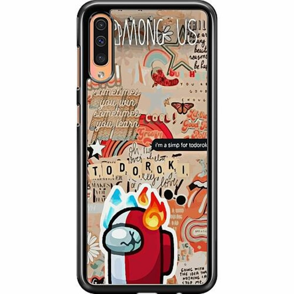 Samsung Galaxy A50 Hard Case (Svart) Among Us