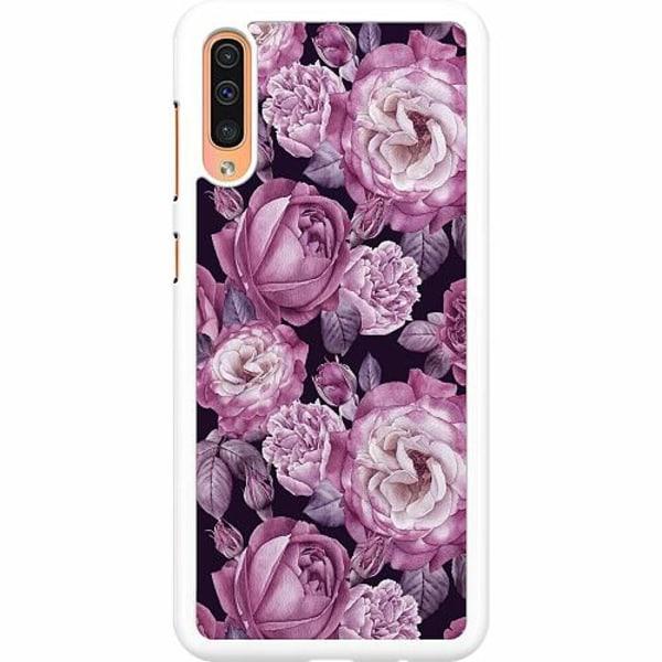 Samsung Galaxy A50 Hard Case (Vit) Blommor