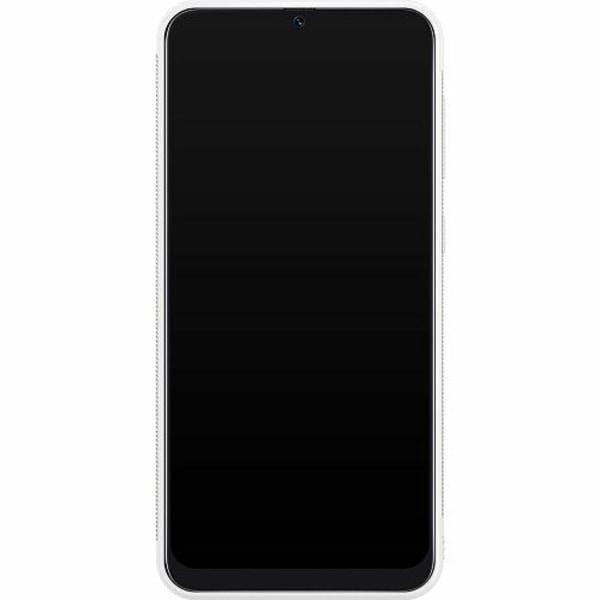 Samsung Galaxy A50 Soft Case (Vit) Blommor