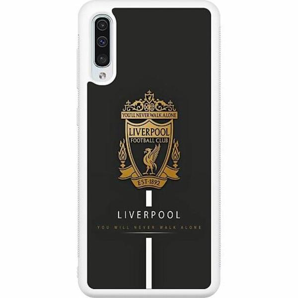 Samsung Galaxy A50 Soft Case (Vit) Liverpool L.F.C.