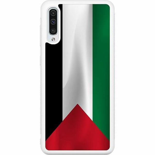 Samsung Galaxy A50 Soft Case (Vit) Palestina Flagga