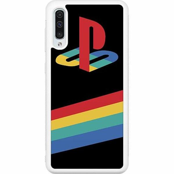 Samsung Galaxy A50 Soft Case (Vit) Playstation Retro