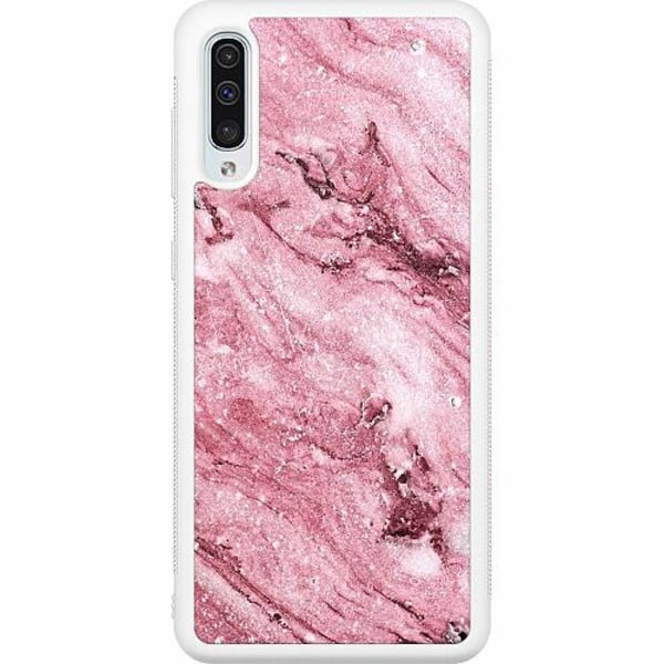 Samsung Galaxy A50 Soft Case (Vit) Rosa