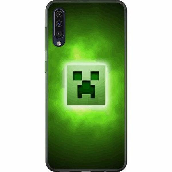 Samsung Galaxy A50 TPU Mobilskal MineCraft Rainbow