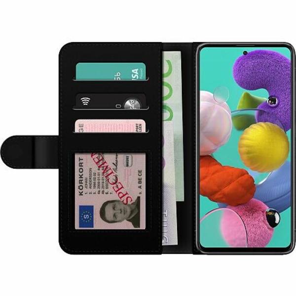 Samsung Galaxy A51 Billigt Fodral Statement Wolf 1055