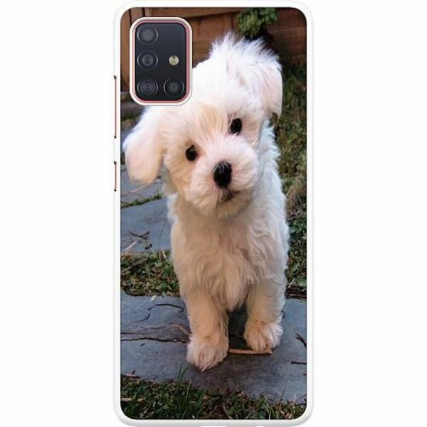 Samsung Galaxy A51 Hard Case (Vit) Hund