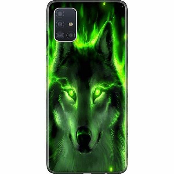 Samsung Galaxy A51 TPU Mobilskal Statement Wolf 1055