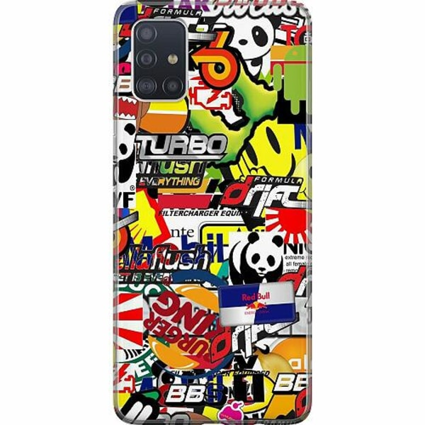 Samsung Galaxy A51 TPU Mobilskal Stickers