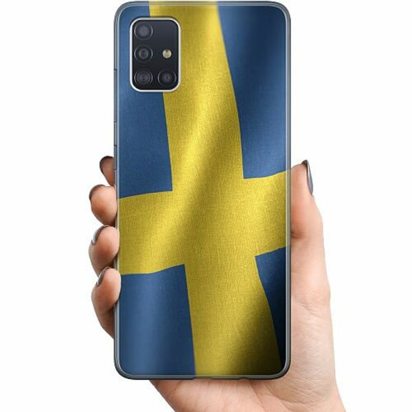 Samsung Galaxy A51 TPU Mobilskal Heja Sverige / Sweden