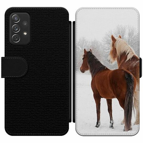 Samsung Galaxy A52 5G Wallet Slim Case Häst / Horse