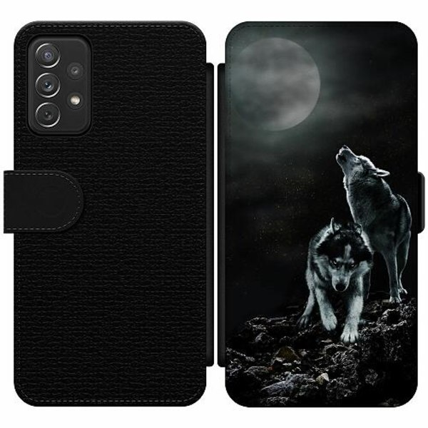 Samsung Galaxy A52 5G Wallet Slim Case Howling Wolves