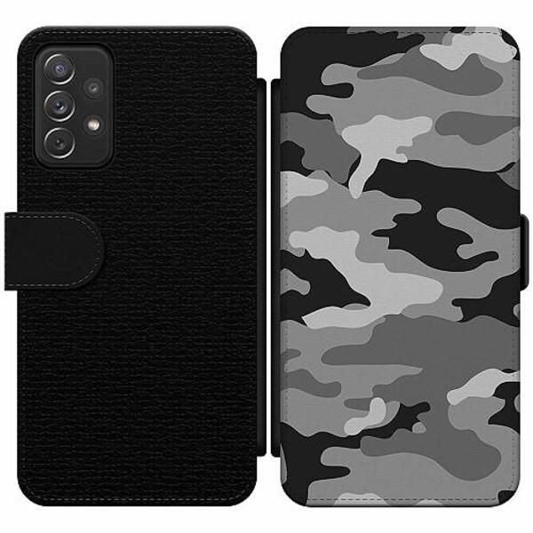Samsung Galaxy A52 5G Wallet Slim Case Military B/W