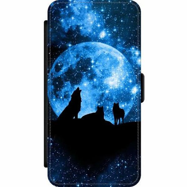 Samsung Galaxy A52 5G Wallet Slim Case Moon Wolves