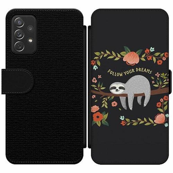 Samsung Galaxy A52 5G Wallet Slim Case Sloth of wisdom