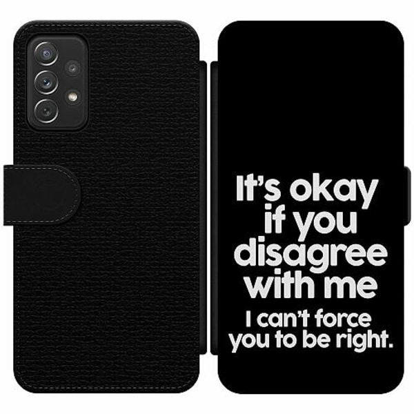 Samsung Galaxy A52 5G Wallet Slim Case Text
